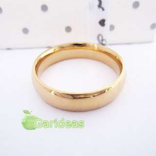 Gold Stainless Steel Sparkling Ring ID2023 US Size 7 8 9 10 11(1 Pcs