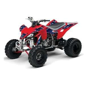 2004 2008 Yamaha YFZ 450 ATV Quad, Graphic Kit   Rebel Red, White