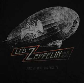Led Zeppelin 1977 World Tour Rock Band Adult T Shirt Tee