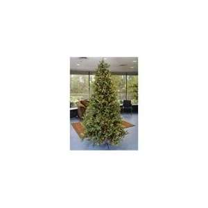 10 Pre Lit White Pine Fir Artificial Christmas Tree