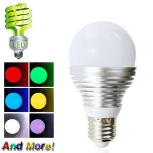 E27 3W AC90 240V RGB Color Changing LED Light Bulb, LED Spot Light