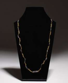 Authentic ancient Roman Gold & black bead necklace