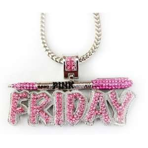 Iced Nicki Minaj Pink Friday Pendant + Franco Chain 36
