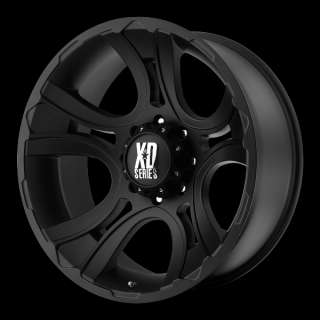 20 inch Black wheels XD801 CRANK Chevy Gmc Dodge 2500 3500 Trucks 8
