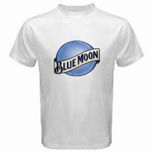 Blue Moon Beer Logo New White T Shirt Size  S
