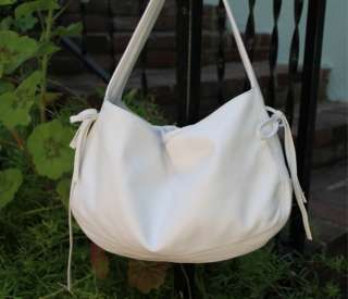 Early KOOBA White Leather HANDBAG Purse Hobo