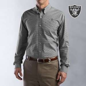 Cutter & Buck Oakland Raiders Mens Collegiate Check Woven Long Sleeve