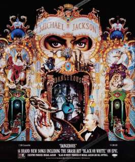 Michael Jackson King PoP Poster Dangerous Cover Album