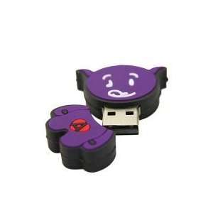 8GB Ox Shaped Cartoon USB Flash Drive Purple Electronics