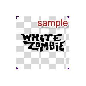 RANDOM WHITE ZOMBIE 10 WHITE VINYL DECAL STICKER