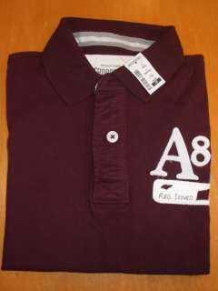 NEW MENS AEROPOSTALE S/S JERSEY POLO SHIRT, RICH WINE, PICK A SIZE