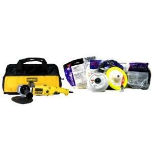 Variable Speed Polisher along with a Professional 7 Piece 3M Pad Kit