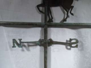 Vintage Brass, Copper Weather, Wind Vane, Horse, Barn, Farm