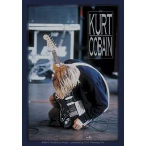KURT COBAIN (NIRVANA)   Kneeling LICENSED 3 STICKER