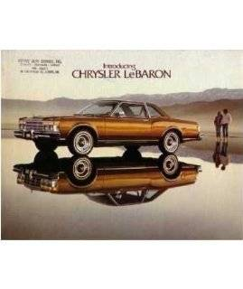 12. 1977 CHRYSLER LEBARON Sales Brochure Literature Book by