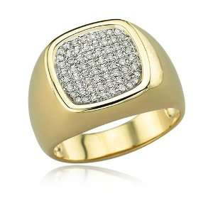 14K YELLOW GOLD Diamond Mens Ring Diamond quality A (I1 I2 clarity, H