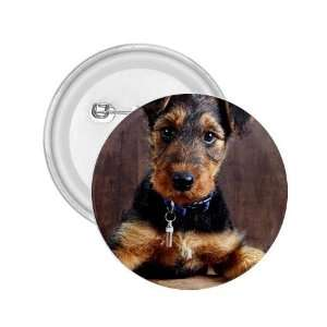 Airedale Terrier Puppy Dog 2.25in Button D0003 Everything