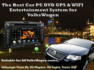 VOLKSWAGEN CAR PC WIFI GPS DOUBLE DIN DVD PLAYER