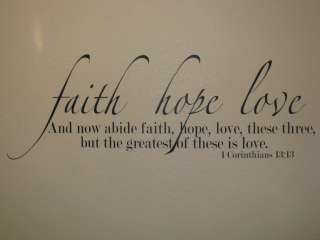 Love Bible Verse Vinyl Wall Lettering Wall Quote Wall Decal