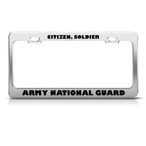 Citizen Soldier Army Guard Military license plate frame