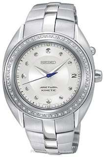More Seiko Ladies Seiko Arctura Kinetic® Stainless Steel Watch with