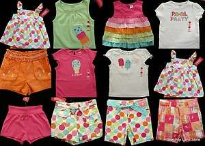 Gymboree Girls 3T 3 POPSICLE PARTY Pool Polkadot Summer Shorts Tops