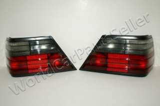 MERCEDES W124 Tail Lights REAR Lamp Red / Smoke 86 95 E
