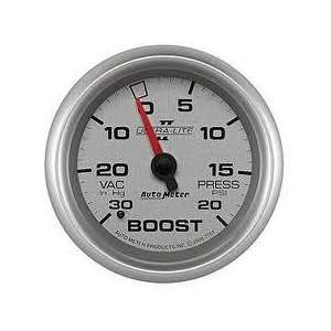 II 2 5/8 30 in. Hg/20 PSI Mechanical Vacuum/Boost Gauge Automotive
