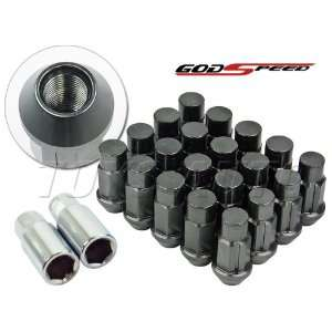 Godspeed Type 4 Wheel Rim Racing Lug Nuts 50mm 20 Piece W / Lock M12 X