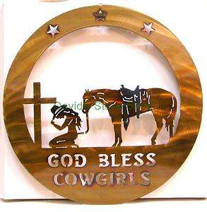 Plasma Cut Metal Art 16 God Bless Cowgirls Wall Sign Western Decor