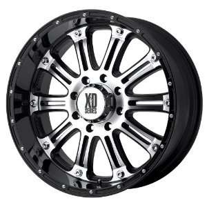 17x9 KMC XD Hoss (Gloss Black w/ Machined Face) Wheels
