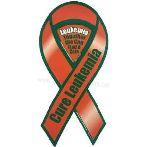 Cure Leukemia Awareness 8 Ribbon Magnet