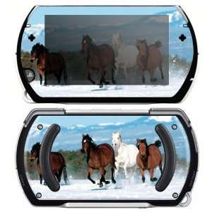 Sony PSP Go Skin   Mountain Running Horses Everything