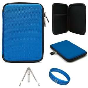 Blue Scratch Resistant Nylon Protective Cube Carrying Case
