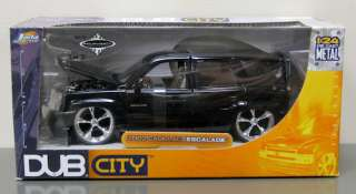 2002 Cadillac Escalade Diecast Model   Jada 124 Black