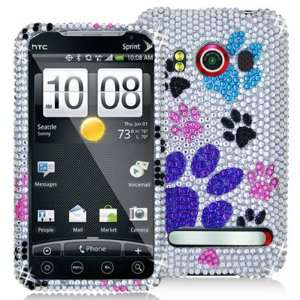 HTC EVO 4G Branded PREMIUM FULL DIAMOND PROTECTOR CASE   COLORFUL DOG
