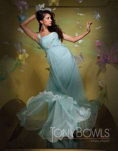 Tony Bowls 111545 Light Aqua Chiffon Pageant Gown 16