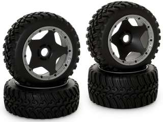 King Motor 1/5 RC Baja All Terrain Rims Tires Full Set Front Rear HPI