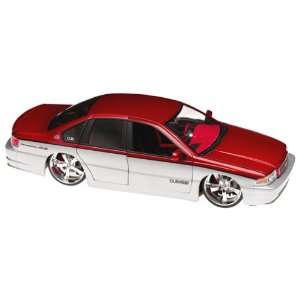 Jada Toy 1/18 Dub City 1996 Chevy Impala Ss Red & Silver