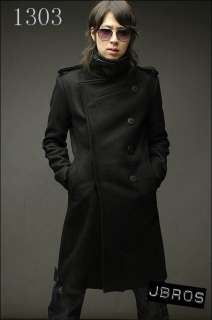 2010 Men Stylish Slim Fit D Breasted Long Trench Coat