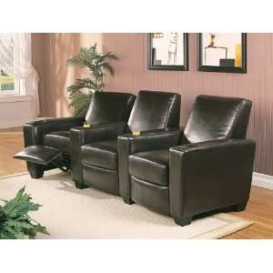 Style Black Motion Home Theater Seating Sofa Chair