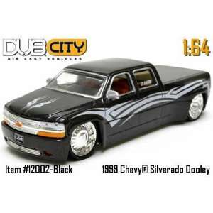Jada Dub City Black 99 Chevy Silverado Dooley Truck 164