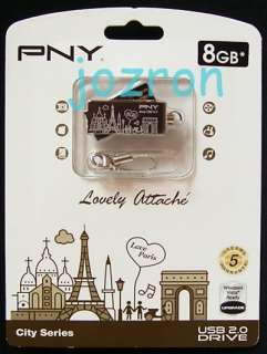PNY 8GB 8G USB Flash Pen Drive Disk New Paris Chocolate