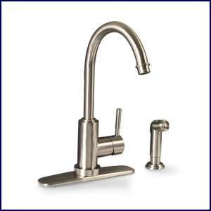 Brushed Nickel Single Handle Kitchen Faucet with Sprayer