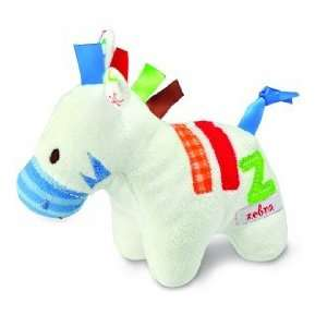 Kids 5 Inch Plush Baby Rattle   White Z Is for Zebra Toys & Games