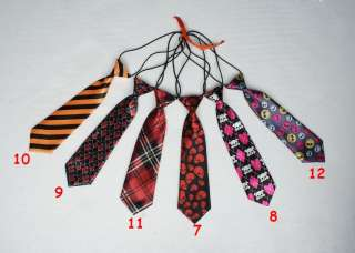 New Kids Boys Childrens Neck Ties Necktie With Elastic Thirty Styles