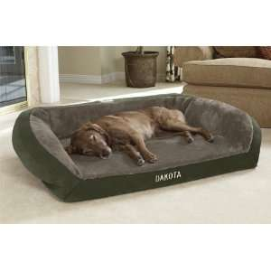 Orvis Tempur pedic Faux fur Deep Dish Dog Bed / Large