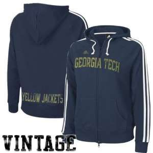 adidas Georgia Tech Yellow Jackets Ladies Navy Blue College Town Full