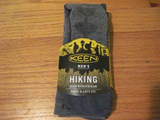 KEEN Mens Wunderseam Boulder Canyon Hiking Socks 61% Merino Wool $17