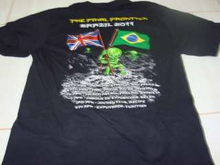 Iron Maiden Concert T Shirt Size L BRAZIL W/ Dates on Back RARE OOP
